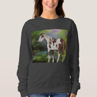 Sauerampfer Tovero Farben-Pferdedruck Sweatshirt