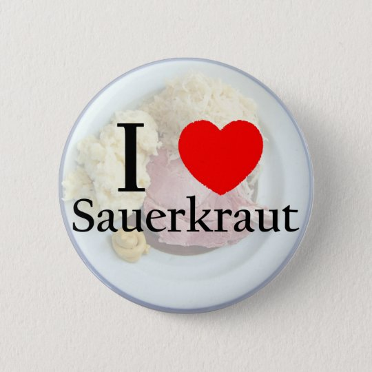 Sauerkrautbutton Runder Button 5,1 Cm
