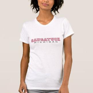 Saugatuck MI - Buchstaben T-Shirt
