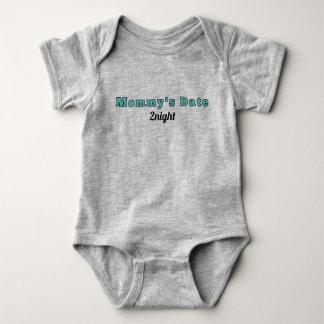 """Säugling Onsie - """"das Datum der Mama heute Abend"""" Baby Strampler"""