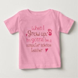 Säuglings-Baby des Informatik-Lehrer-(Zukunft) Baby T-shirt