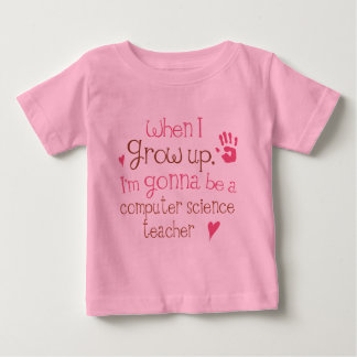 Säuglings-Baby des Informatik-Lehrer-(Zukunft) T Shirts