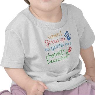 Säuglings-Baby-T - Shirt des Chemie-Lehrer-(Zukunf