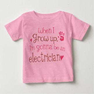 Säuglings-Baby-T - Shirt des Elektriker-(Zukunft)