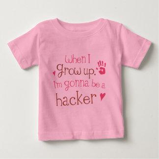 Säuglings-Baby-T - Shirt des Hacker-(Zukunft)