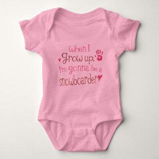 Säuglings-Baby-T - Shirt des Snowboarder-(Zukunft)