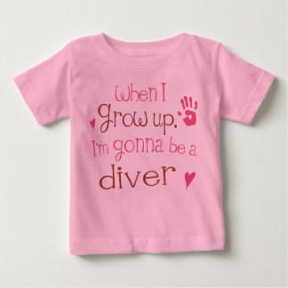 Säuglings-Baby-T - Shirt des Taucher-(Zukunft)