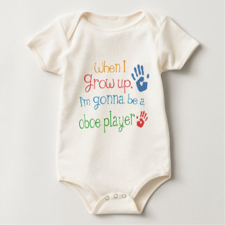 Säuglings-Baby-T - Shirt Oboe Spieler-(Zukunft)