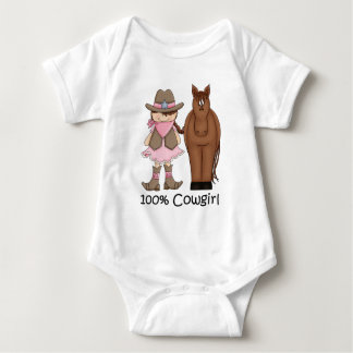 Säuglings-Strampler des Cowgirl-100% und des Baby Strampler