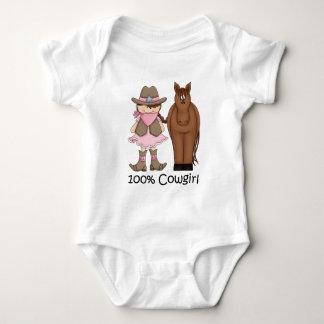 Säuglings-Strampler des Cowgirl-100% und des Babybody