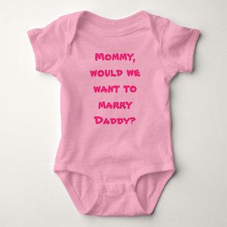 Säuglings-Strampler-Mama heiraten Vati Baby Strampler
