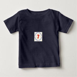 Säuglings-T - Shirt des Kreis-7-Black