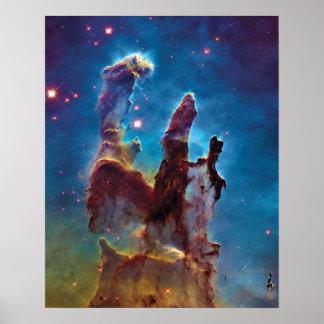 Säulen Adler-Nebelfleck-Raum-des Fotos der Poster