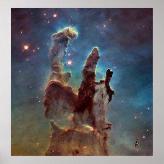 Säulen der Schaffung Poster