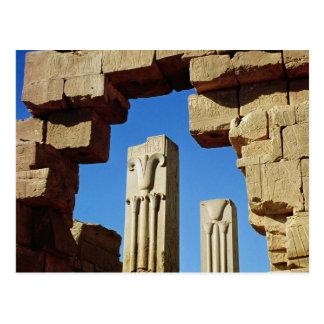 Säulen verziert mit stilisiertem Lotos Postkarte