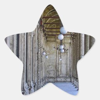 Säulengang der Sultan-Ali-Moschee in Kairo Stern-Aufkleber