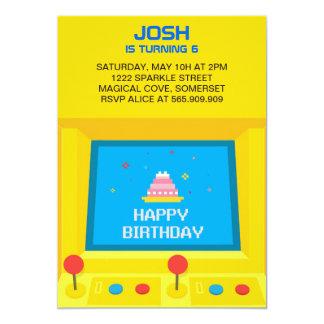 Säulengang-Spiel-Geburtstags-Einladung Einladung
