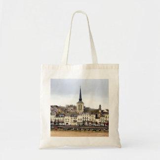 Saumur Fluss-Bank-Szenen-Taschen-Tasche Tragetasche