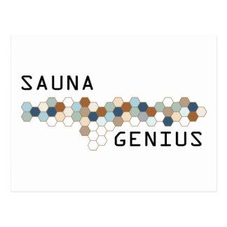 Sauna-Genie Postkarte
