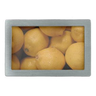 Saure gelbe Zitronen Rechteckige Gürtelschnalle