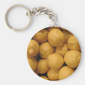 Saure gelbe Zitronen Schlüsselanhänger
