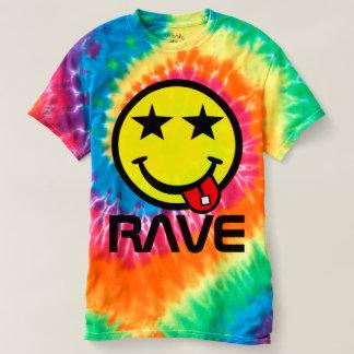 Saure Rave-Lächeln-Gesichts-gefärbte Krawatte T-shirt