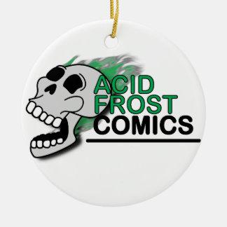 Saurer Frost-Comic-Schädel-Kreis/runde Verzierung Keramik Ornament
