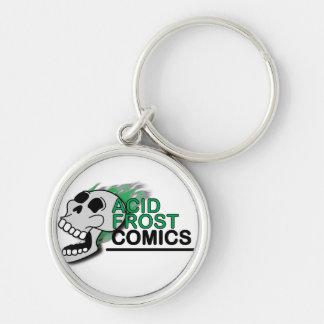 Saurer Frost-Comic-Schädel-Metallkreis Keychain Schlüsselanhänger