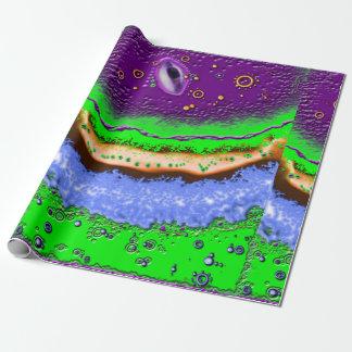 Saurer Planet Geschenkpapier