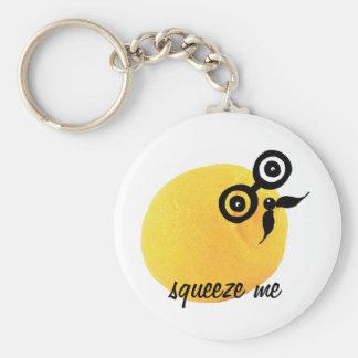 Saures Gesicht drücken mich Keychain zusammen Schlüsselanhänger