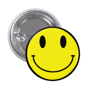Saures smiley-Knopf-Gelb Runder Button 3,2 Cm