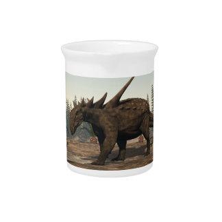 Sauropelta Dinosaurier - 3D übertragen Getränke Pitcher