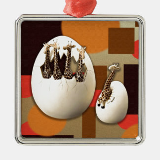 Savanne-Art Silbernes Ornament