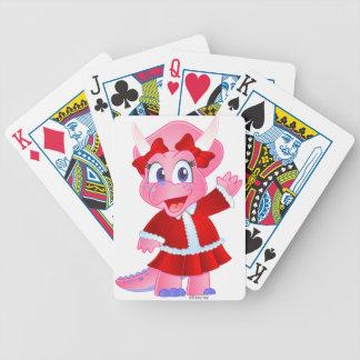Savanne Dino in der Weihnachtsausstattung Bicycle Spielkarten