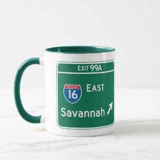 Savanne, GA-Verkehrsschild Tasse