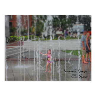 Savanne, Georgia - Ellis quadratische Postkarte