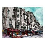 Savanne-Georgia-Fluss-Straßenkunstzeichnen Postkarten