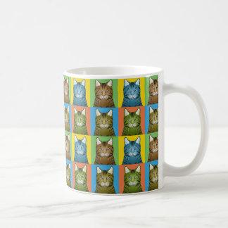 Savanne-Katzen-Cartoon Pop-Kunst Kaffeetasse