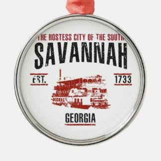 Savanne Silbernes Ornament