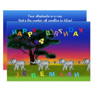 Savanne-Sonnenuntergang durch Happy Juul Company 12,7 X 17,8 Cm Einladungskarte