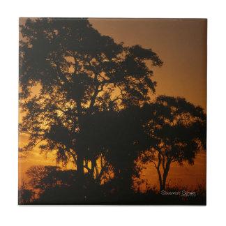 Savanne-Sonnenuntergang Keramikfliese