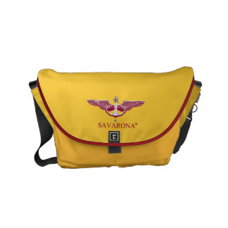 Savarona Logo GS-1905 Rickshaw Messenger Bag Small Kuriertaschen