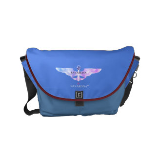 Savarona Logo Skyblue Rickshaw Messenger Small Bag Kuriertasche