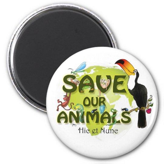 Save our Animals Runder Magnet 5,1 Cm