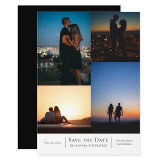 Save the Date 4 Fotos Wedding personalisiert Karte