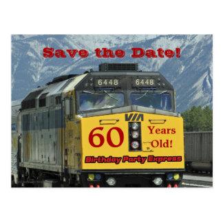 Save the Date 60. Geburtstags-Feier-Postkarte Postkarte