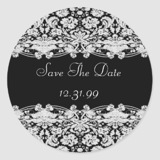 Save the Date Aufkleber-Personalizable Text Runder Aufkleber