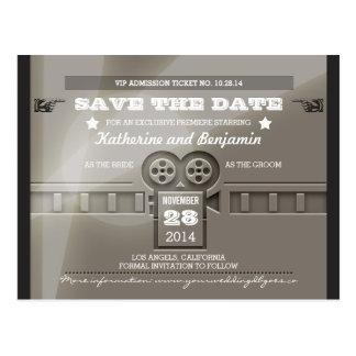 Save the Date Aufnahmefilm-Kartenpostkarten Postkarte