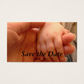 Save the Date Baby-Dusche Visitenkarte