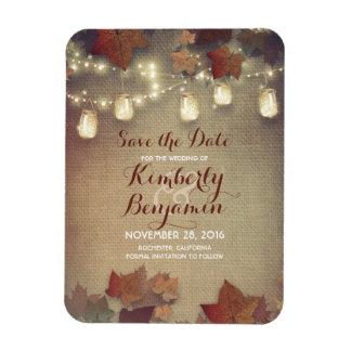 Save the Date beleuchtet Fall-Maurer-Glas Magnet